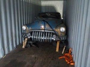 Ретро авто из США Кадиллак 1950 выгрузка декабрь 2017