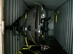 Алюминиевый катер погрузка Котка 2010