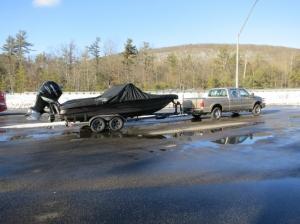 Доставка катера Triton 216 из Канады февраль 2021